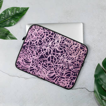 Pink and purple laptop sleeve by Melsinki