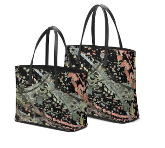Melsinki Dramatic Tuesdays Leather Tote Bags