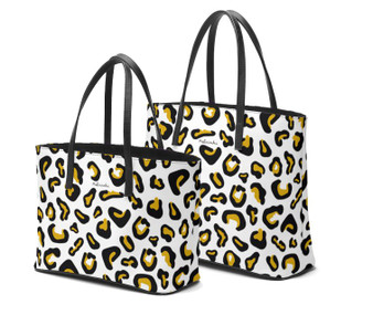 Leopard Print leather tote bags by Melsinki