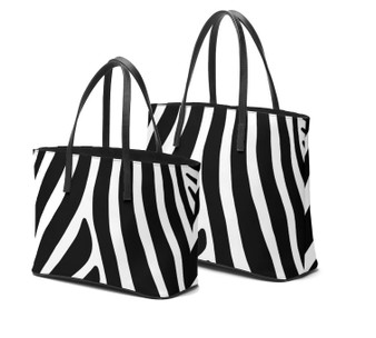 Zebra Stripes leather tote bags by Melsinki