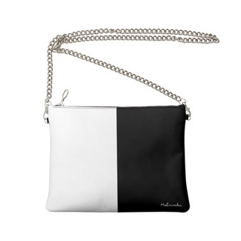 black and white evening bag