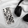Black and white Scribble Print Phone Case