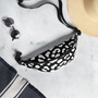 Black and white Leopard Print Fanny Pack