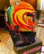 NecksGen neck protection installed on helmet.