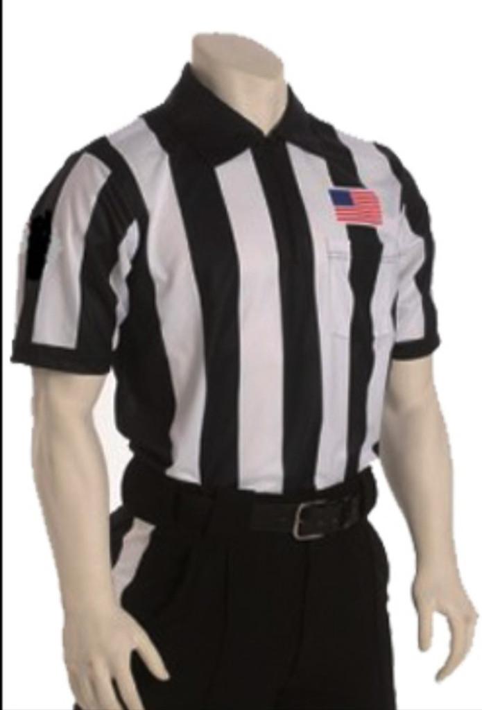 """Cliff Keen SK062Q 2 1/4"""" stripe moisture management Short-Sleeve Football officials' jersey"""