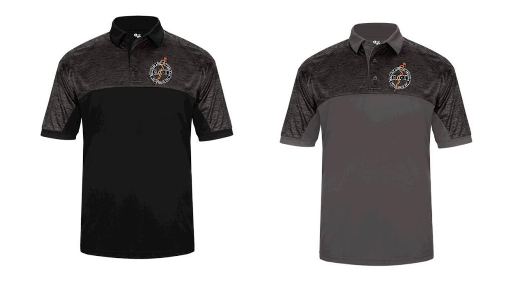 Tonal Blend polo shirt w/ embroidered logo