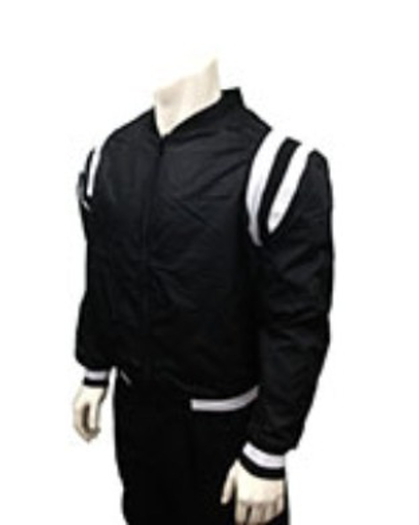 Smitty CCA Full-zip Basketball Referee Jacket with White Shoulder Stripes