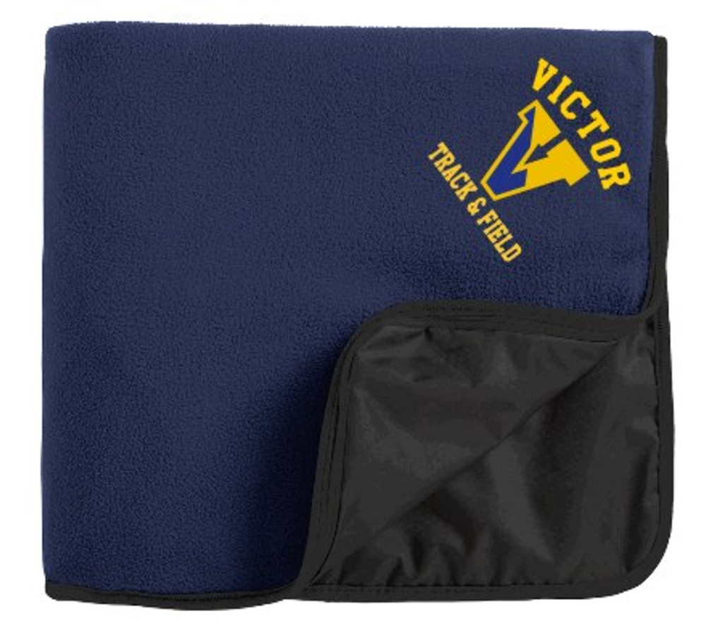 Fleece/Nylon Blanket w/ Embroidered Logo Victor Track