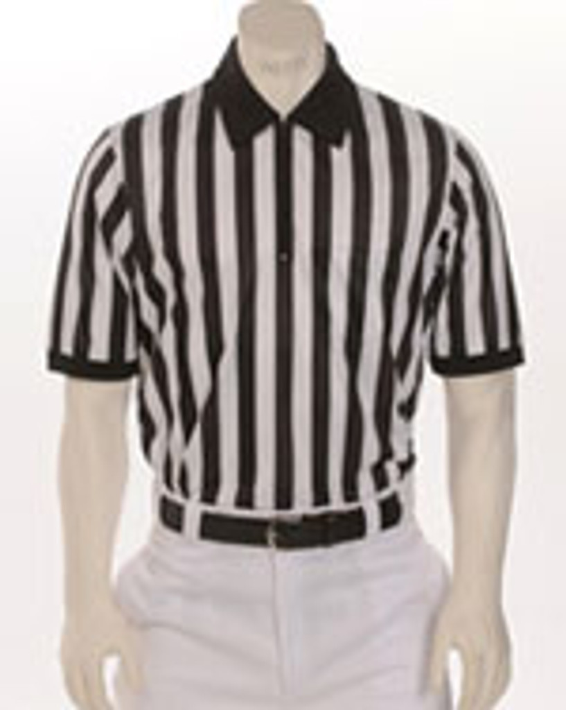 "Smitty FBS-100 1"" stripe Performance Mesh Short-Sleeve Officials' Shirt"