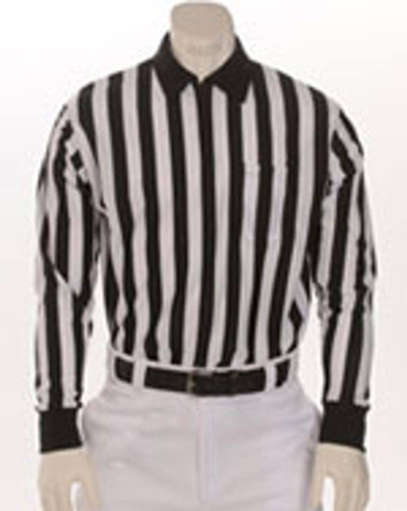 """Smitty FBS-113 1"""" stripe Performance Heavyweight Interlock fabric Long-Sleeve Officials' Shirt"""