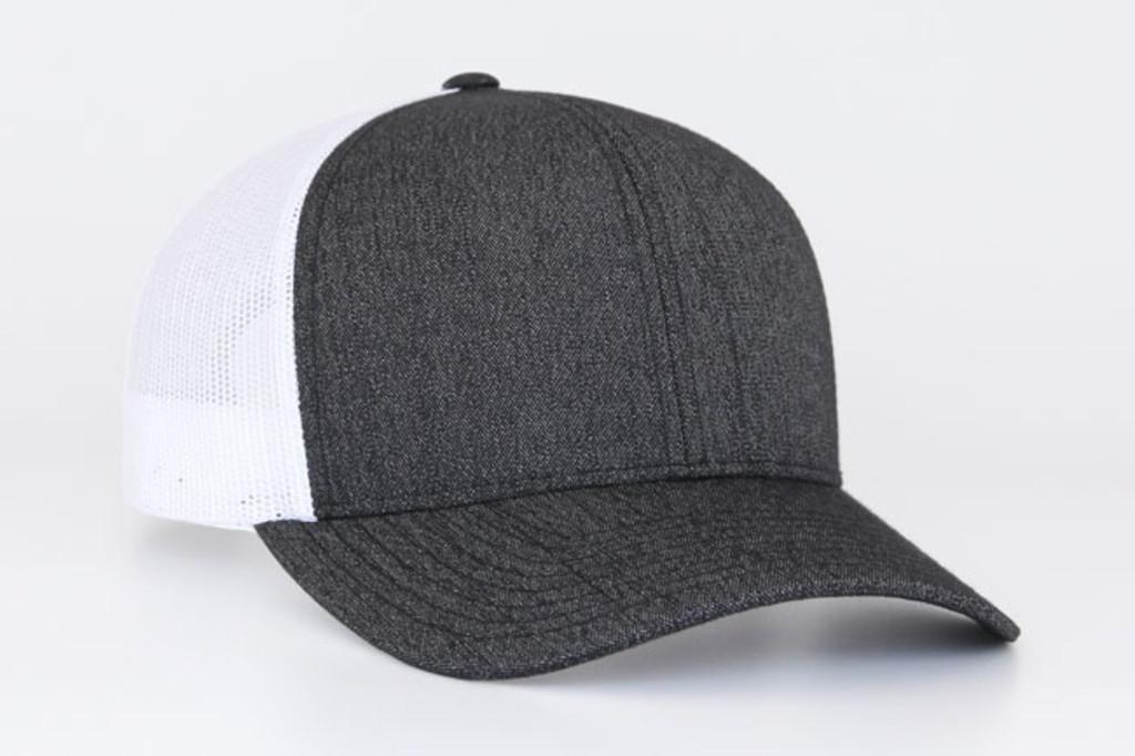 Pacific Headwear 110C Heather Mesh Adjustable Trucker Hat