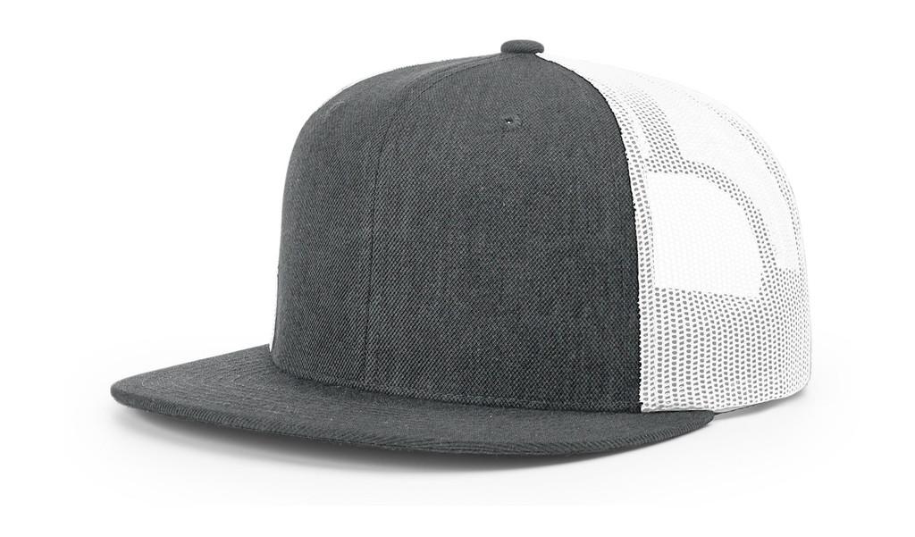 Richardson 511 Wool blend Flat Bill Trucker Snap Back Adjustable Hat