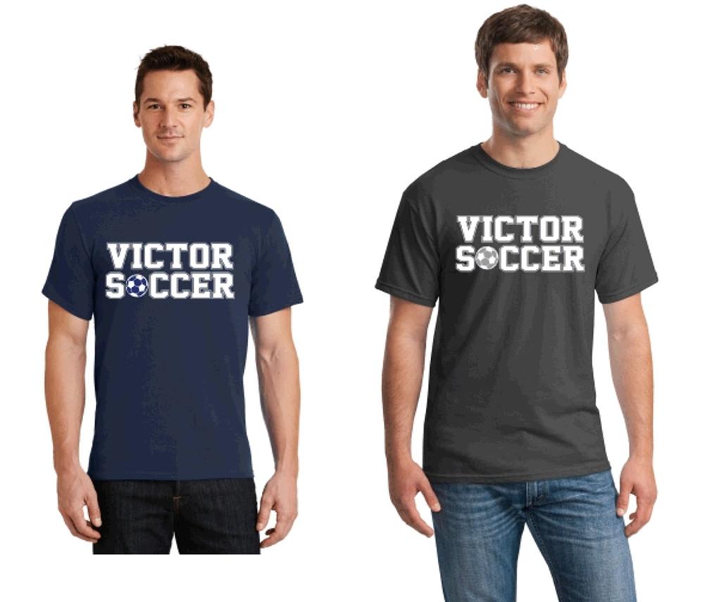 Cotton T-Shirt w/ Printed Logo, VSOCCER