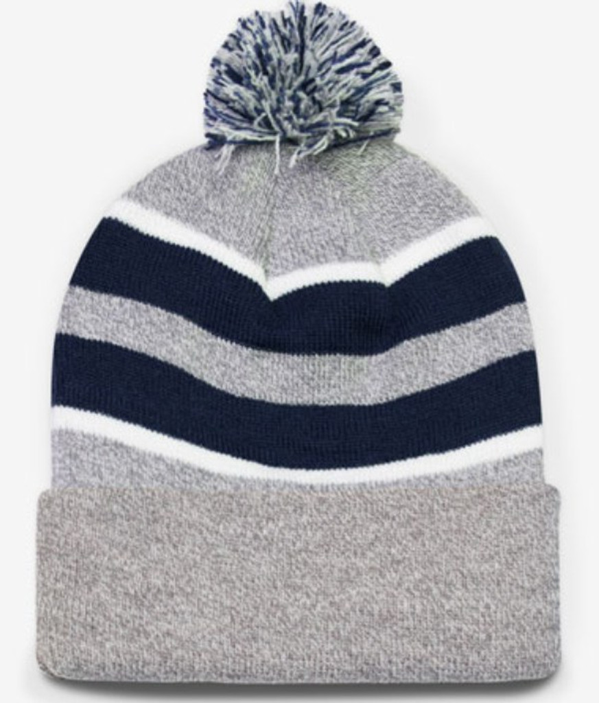 Pacific Headwear #641K Pom-Pom Knit Winter Beanie Hat
