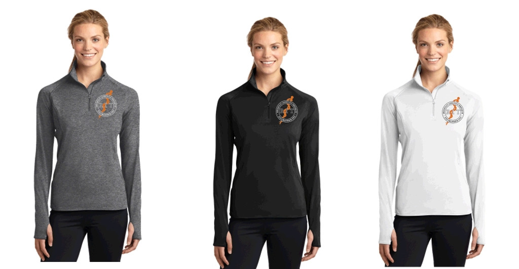 Women's LST850 Women's Sport-Wick® Stretch 1/2-Zip w/ Embroidered Logo