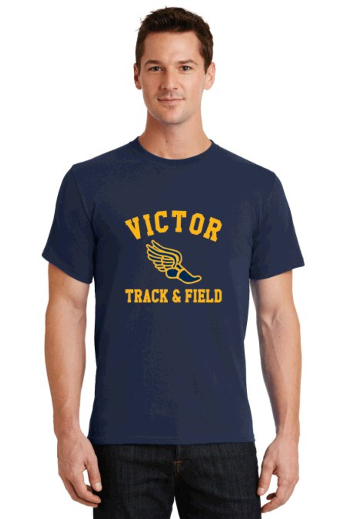 Cotton t shirt w/ printed logo, Adult Victor Track