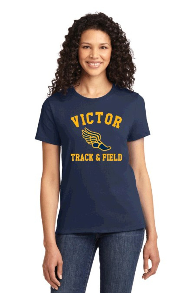 Cotton t shirt w/ printed logo, Women's sized, Victor Track