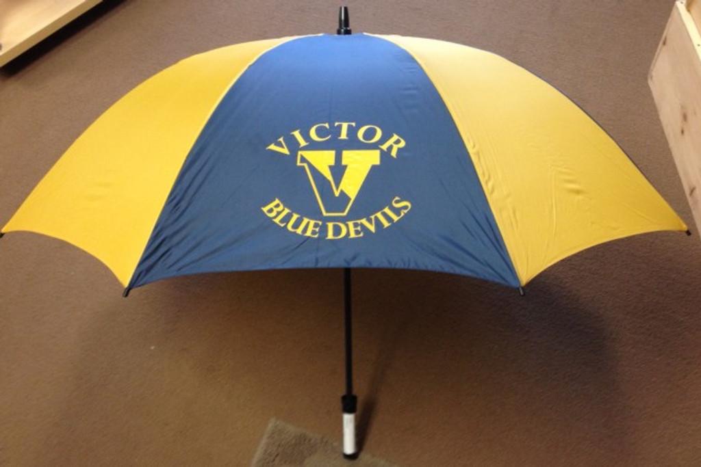 "Umbrella, 60"" Arc, w/ Printed VICTOR BLUE DEVILS Logo-Victor Track"