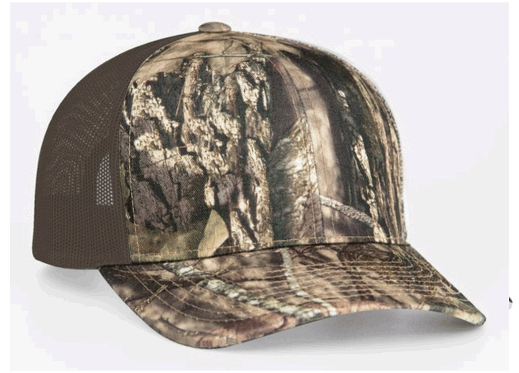 Pacific Headwear 108C Camo Adjustable Snapback Trucker Hat