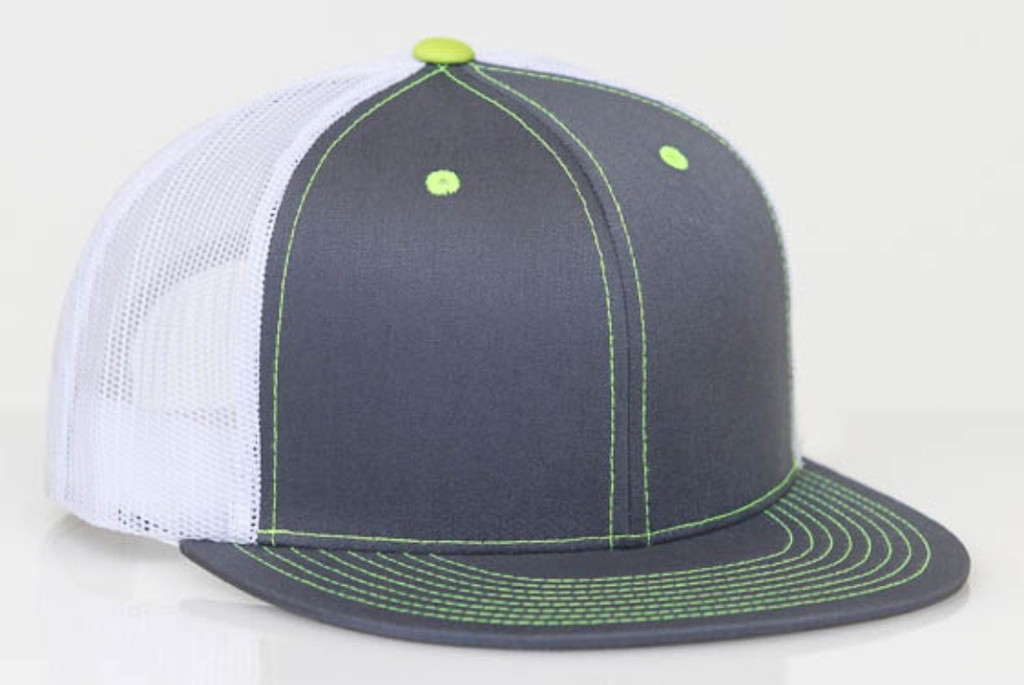 Pacific Headwear 4D3 D-series Snapback Flat Bill Trucker Hat