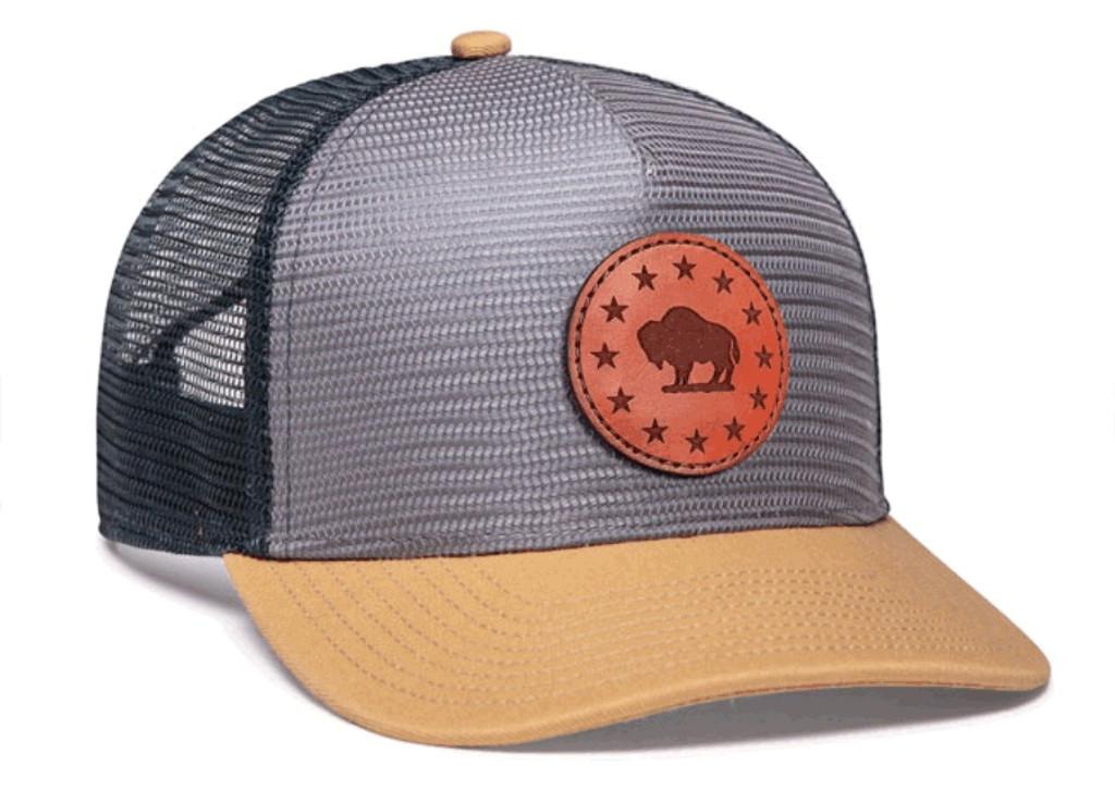 Pacific Headwear 724 Mesh Overlay 5-panel Snapback Trucker Hat