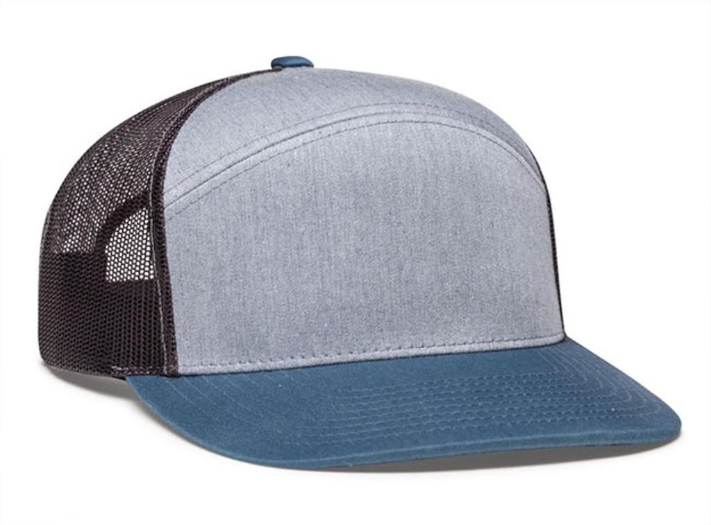 Pacific Headwear 787 6-Panel Arch Snapback Trucker Hat