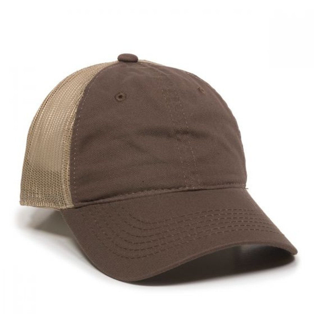 Outdoor Cap FWT-130 Unstructured Garment Washed Trucker Hat