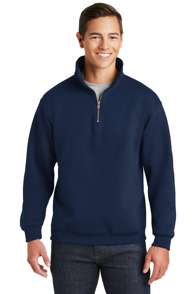 JERZEES 9.5 oz 50/50 Quarter-Zip Pullover w/ Cadet JZ4528
