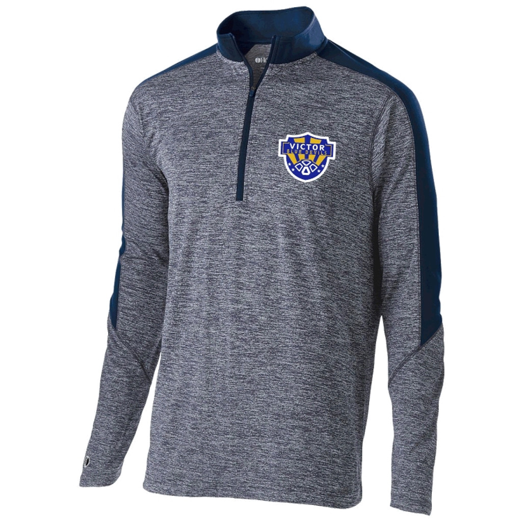 Holloway Electrify 1/2 zip pullover, Adult w/ embroidered logo VSOCCER