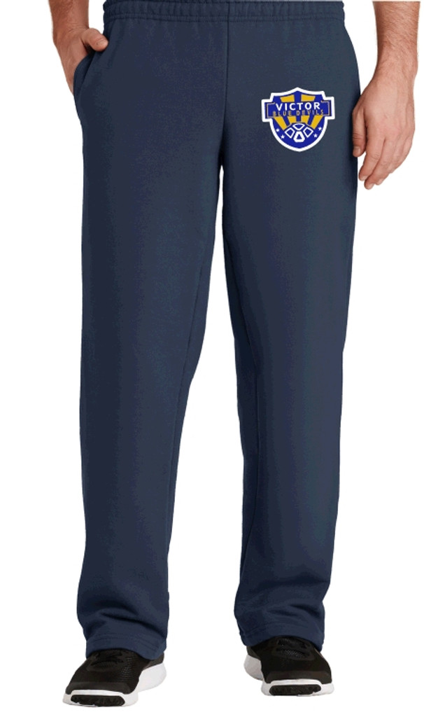 Cotton Pants, Unhemmed w/ Embroidered Logo VSOCCER