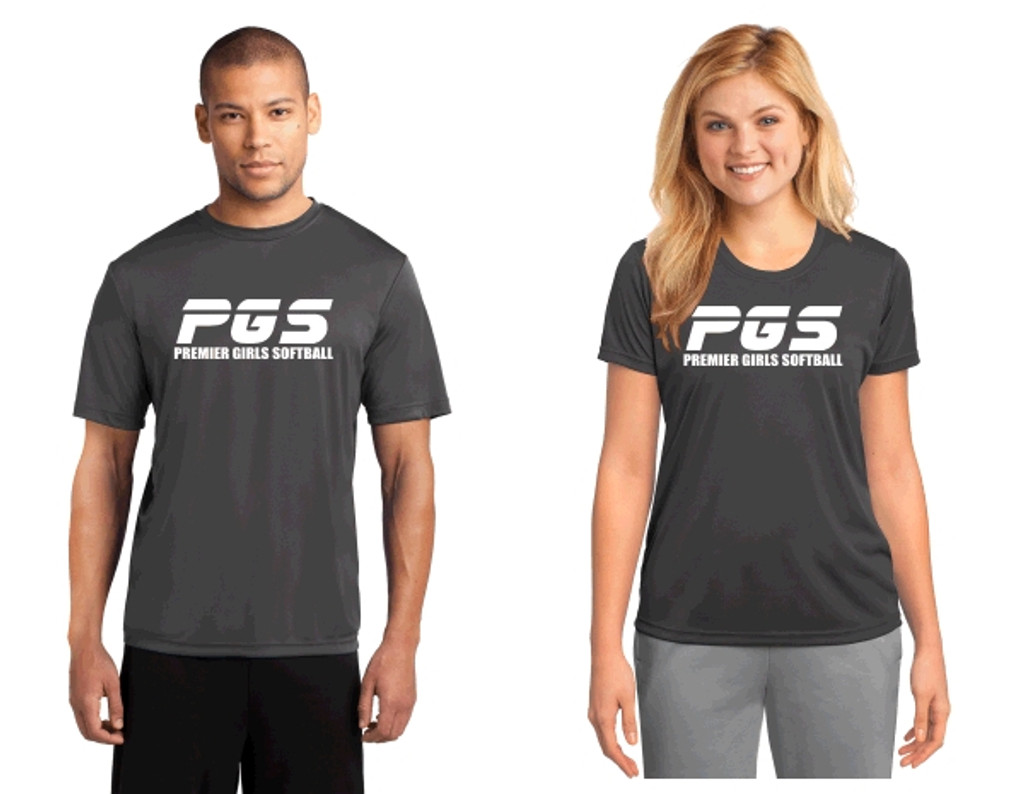 Performance  t shirt w/ printed logo, Adult or Women's , PGS