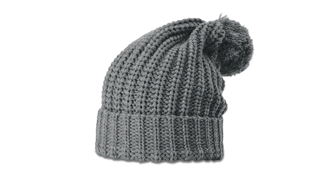 Richardson 143 Chunk Cable Knit beanie w/ cuff & pom