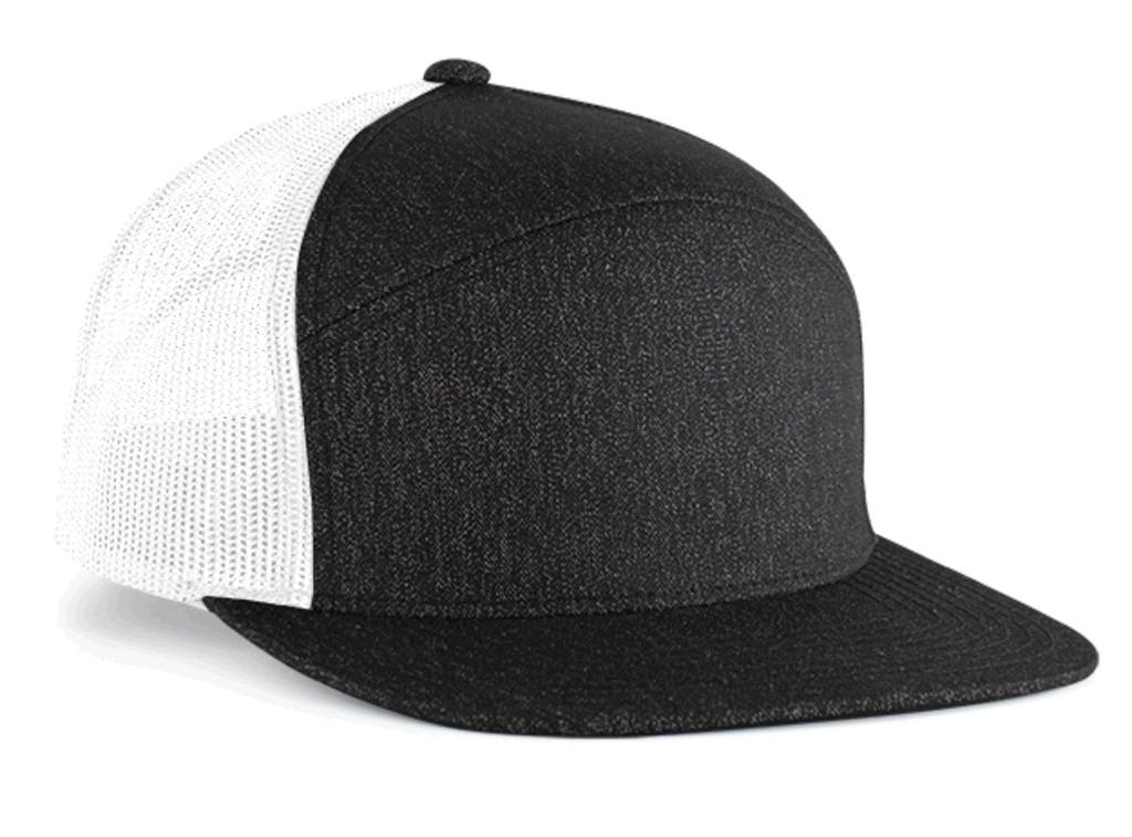 Pacific Headwear 710 6-Panel Heather Mesh Snapback Trucker Hat