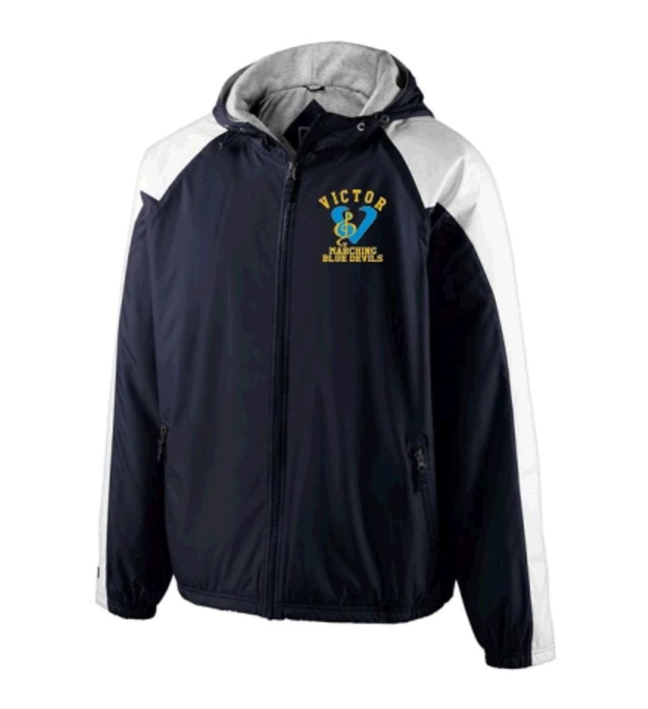 Hooded full-zip jacket w/ embroidered logo VBAND