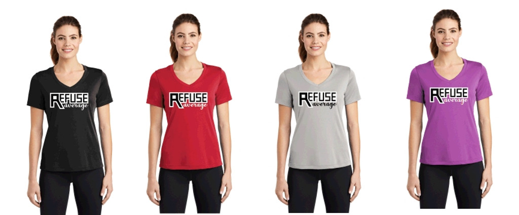 Women's Performance V-Neck T w/ Printed Logo,  TALL_TRAINER
