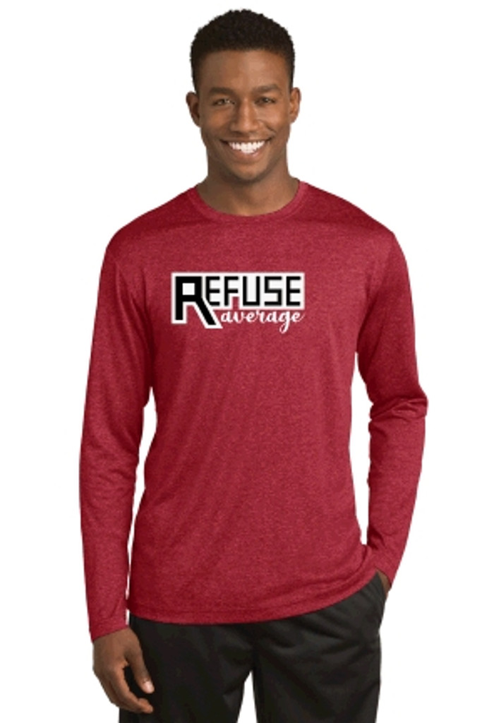 Long-sleeve Performance w/ Printed Logo, Adult, TALL_TRAINER