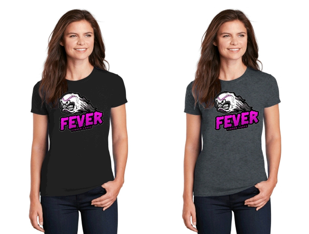 Cotton t shirt w/ printed logo, Women's sized, FL FEVER