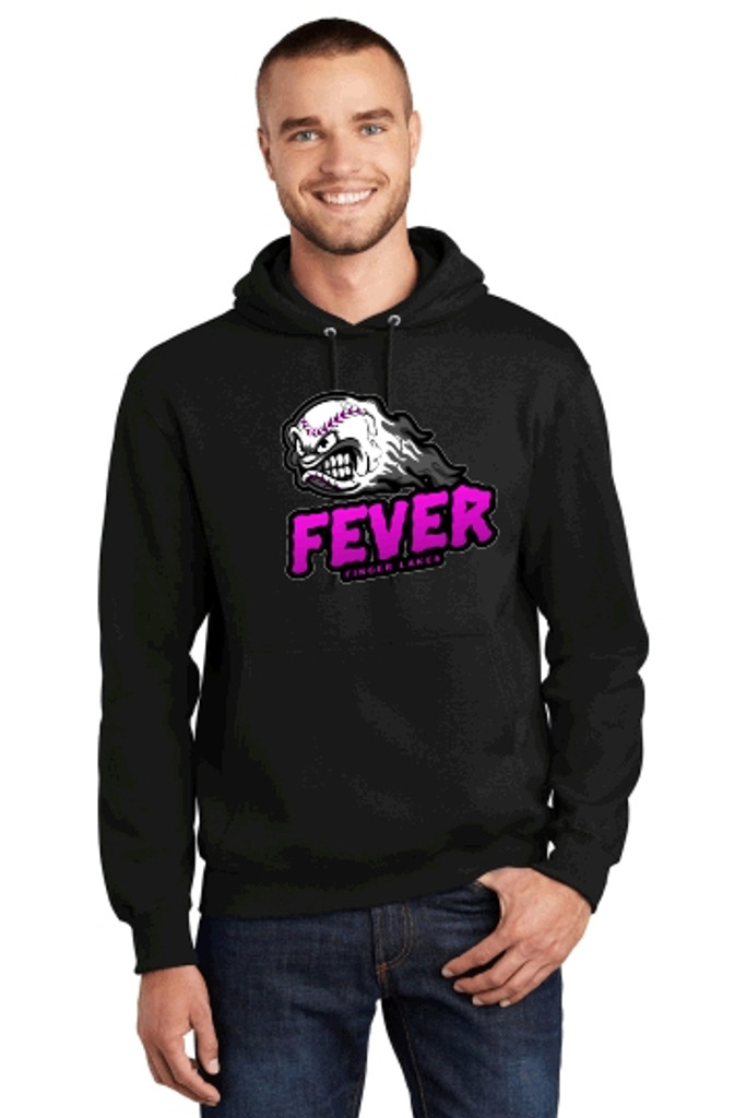 Cotton Hooded Sweatshirt w/ Printed Logo, FL FEVER