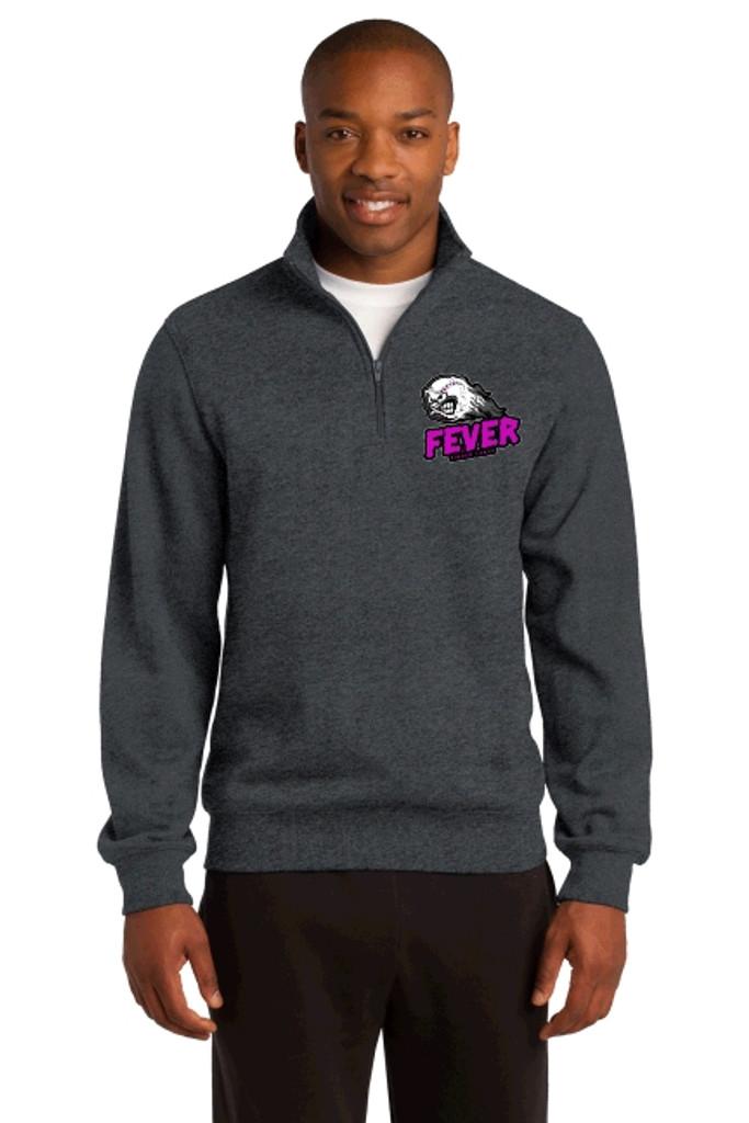 Adult 1/4 zip Cotton Sweatshirt w/ embroidered logo, FL FEVER