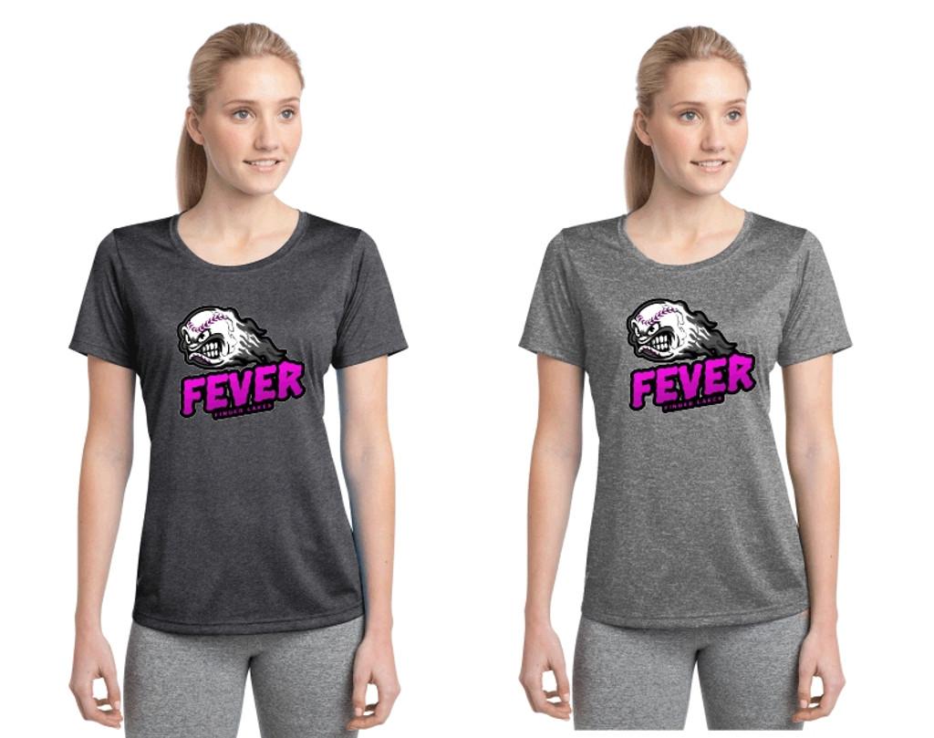 Women's Performance Heathered T w/ Printed Logo, FL FEVER