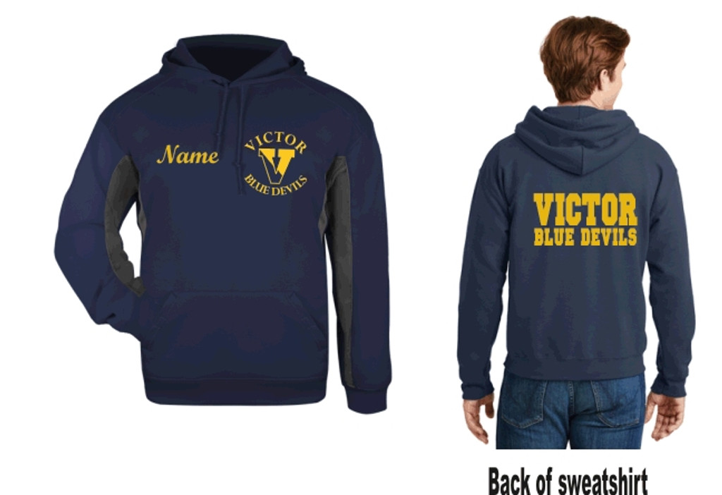 Performance Hooded sweatshirt w/ Printed and Embroidered Logo VICTOR DFS