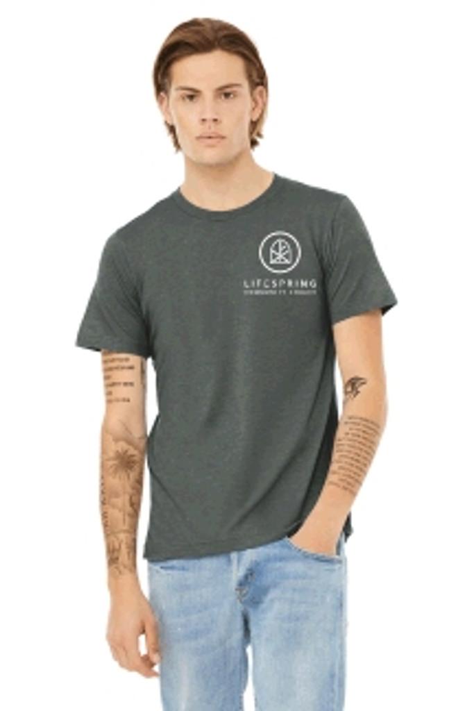 Cotton Unisex T shirt w/ Printed Logo LIFESPRING