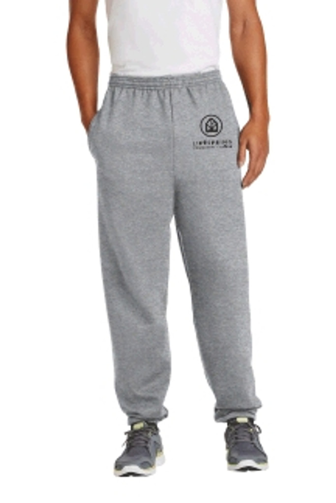 Cotton Pants, Elastic at Ankles w/ Embroidered COMMUNITY CHURCH logo, LIFESPRING