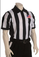 "Cliff Keen SK062Q 2 1/4"" stripe moisture management Short-Sleeve Football officials' jersey"