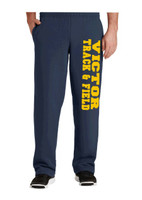 Cotton pants, unhemmed bottom, pockets, w/ printed logo Victor Track