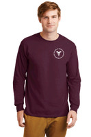 Cotton Long-Sleeve t shirt w/ printed logo, Adult RITCHST