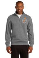 Adult 1/4 zip Cotton Sweatshirt w/ embroidered logo