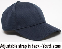 Pacific Headwear 805M-Y, Youth Sized Coolport Mesh Adjustable Baseball Hat