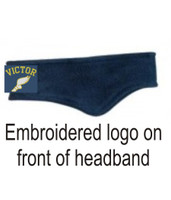 Fleece Headband with Embroidered Logo