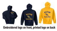 Adult Cotton Hooded Sweatshirt with Logos Victor Track
